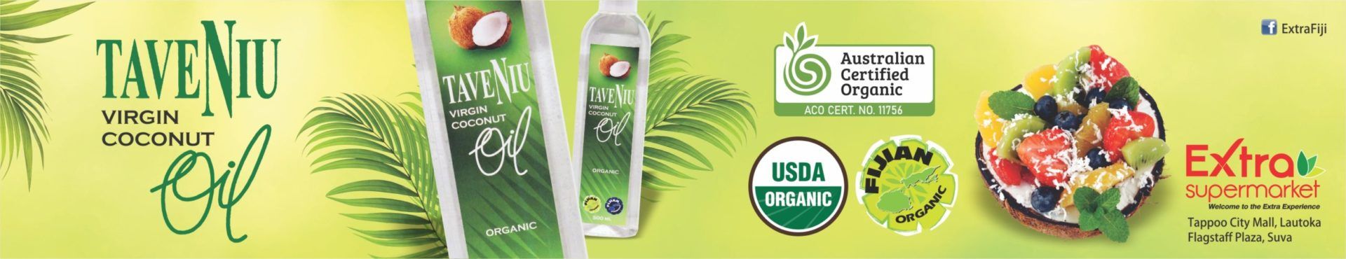 Fiji Premium TaveNiu Virgin Coconut Oil at Extra Supermarket