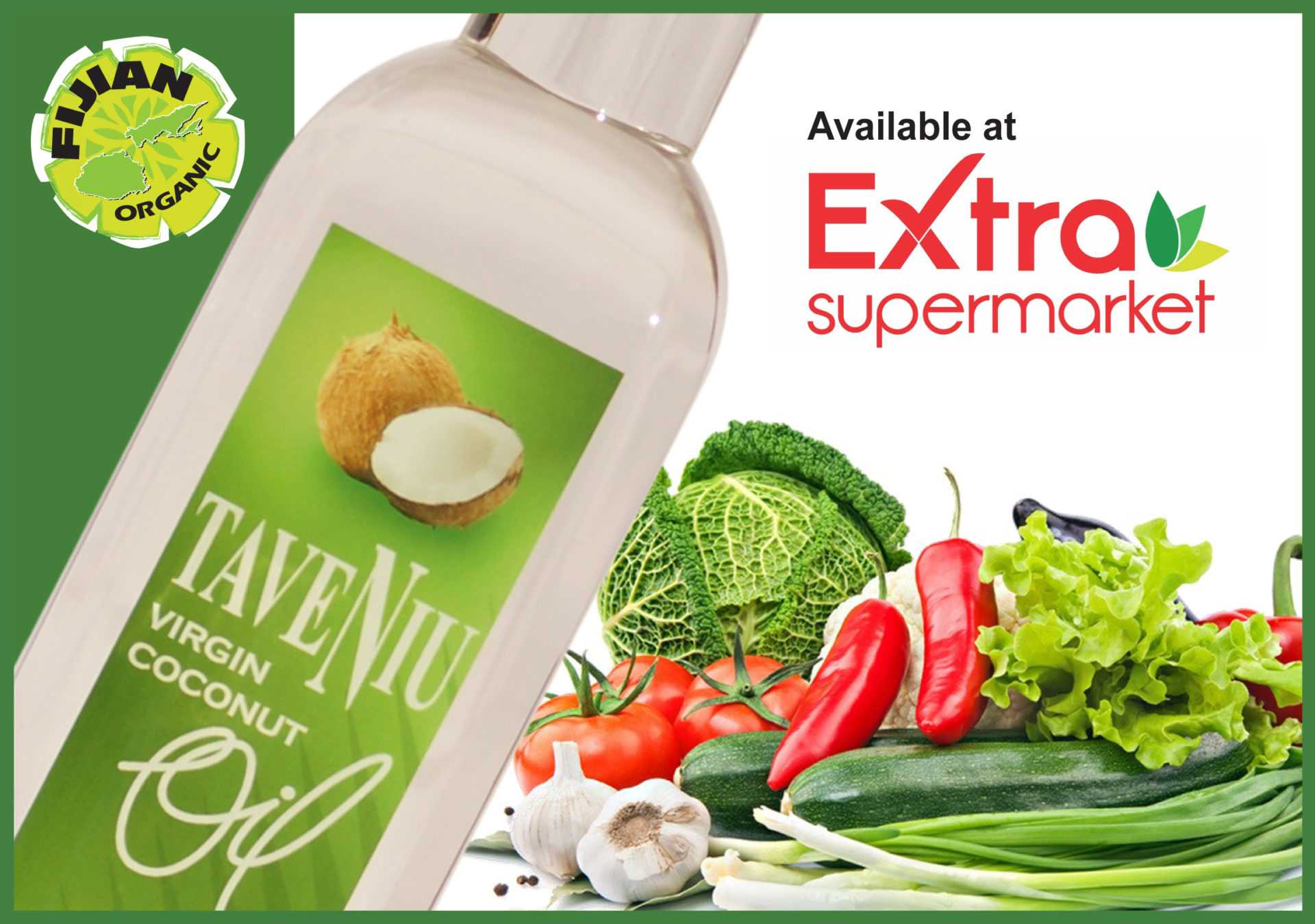 TaveNiu Virgin Coconut Oil available at Extra Supermarket